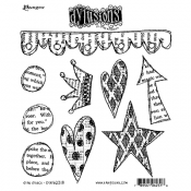 Dylusions Cling Mount Stamps - Star Struck DYR62318