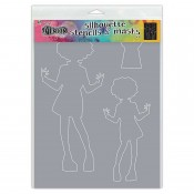 Dylusions Stencil Silhouettes: Maisie DYS65302