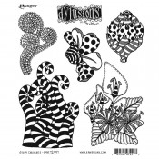 Dylusions Cling Mount Stamps: Stripy Curlicues DYR72997