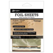 Shiny transfer sheets add a touch of shine to your craft projects - quick and easy to apply.