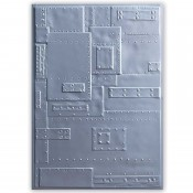 Sizzix 3-D Texture Fades Embossing Folder: Foundry 662717