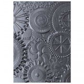 Sizzix 3-D Texture Fades Embossing Folder: Mechanics 662715