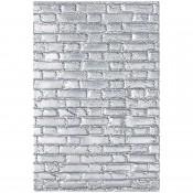 Sizzix 3-D Texture Fades Embossing Folder: Brickwork - 664259