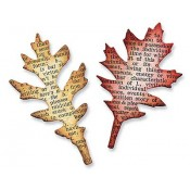 Sizzix Movers & Shapers Magnetic Die - Mini Tattered Leaves 657460