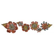 Sizzix Decorative Strip Die - Tattered Flower Garland 657824