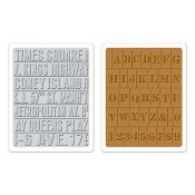 Sizzix Embossing Folders - Subway & Stencil Set 657948