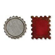 Sizzix Movers & Shapers Magnetic Die - Mini Bottle Cap & Stamp 658559