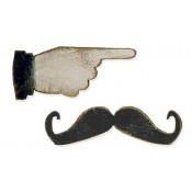 Sizzix Movers & Shapers Magnetic Die - Mini Mustache & Pointer Set 658562