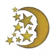 Sizzix Bigz Die: Crescent Moon & Stars 658716
