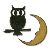 Sizzix Movers & Shapers Magnetic Die - Mini Owl & Crescent Moon 658725