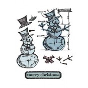 Die & Stamp Set - Snowman Blueprint 659378