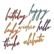 Sizzix Thinlits Die Set: Handwritten Celebrate 660215