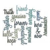 Sizzix Thinlits Die Set: Friendship Words, Script 660225