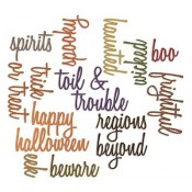 Sizzix Thinlits Die Set: Halloween Words, Script 660957