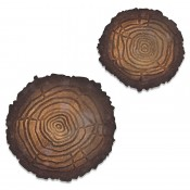 Sizzix Bigz Die w/ Texture Fade: Mini Tree Rings 664232