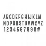Sizzix Bigz XL Alphabet Dies: Society 664169