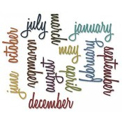 Sizzix Thinlits Die Set - Calendar Words: Script 661179
