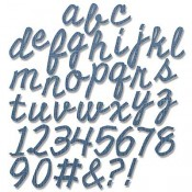 Sizzix Thinlits Die Set: Alphanumeric Cutout Script - 663113