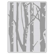 Sizzix Texture Fades Embossing Folder: Birch Trees 661405