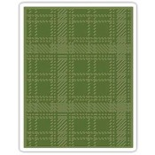 Sizzix Texture Fades Embossing Folder: Plaid 661007