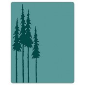 Sizzix Texture Fades Embossing Folder: Tall Pines 661407