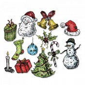 Sizzix Framelits Die Set: Tattered Christmas 662437