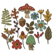 Sizzix Thinlits Die Set: Funky Foliage 663087