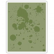 Sizzix Embossing Folder: Ink Splats 662366