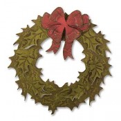 Sizzix Bigz Die w/ Texture Fade: Layered Holiday Wreath 662169