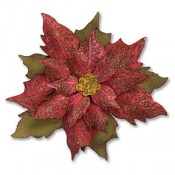 Sizzix Bigz Die w/ Texture Fade: Layered Tattered Poinsettia 662170