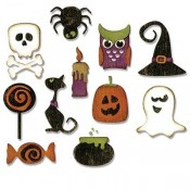 Sizzix Thinlits Die Set: Mini Halloween Things 662379