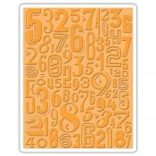 Sizzix Embossing Folder: Numeric 661827