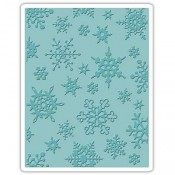 Sizzix Embossing Folder: Simple Snowflakes 662432
