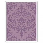 Sizzix Embossing Folder: Skull Damask 662390