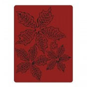 Sizzix Texture Fades Embossing Folder: Tattered Poinsettia 662198