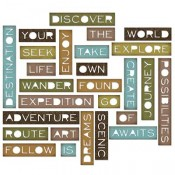 Sizzix Thinlits Die Set: Thin Traveler Words 661803
