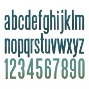 Sizzix Thinlits Die Set: Alphanumeric Classic, Lowercase 664224