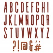 Sizzix Thinlits Die Set: Alphanumeric Classic, Uppercase 664223