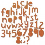 Sizzix Thinlits Die Set: Alphanumeric Cutout, Lower - 663074