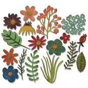 Sizzix Thinlits Die Set: Funky Florals #1 662700