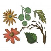 Sizzix Thinlits Die Set: Large Funky Floral 664158