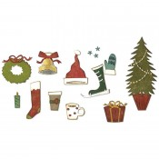 Sizzix Thinlits Die Set: Festive Things 664191