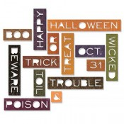 Sizzix Thinlits Die Set: Thin Halloween Words 661587