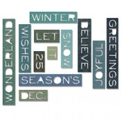 Sizzix Thinlits Die Set: Thin Holiday Words 661600