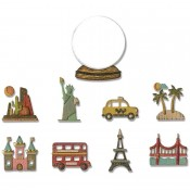 Sizzix Thinlits Die Set: Tiny Travel Globe 664182
