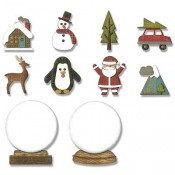 Sizzix Thinlits Die Set: Tiny Snowglobes 663119