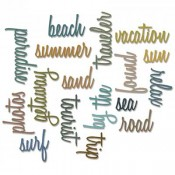 Sizzix Thinlits Die Set: Vacation Words, Script 661288