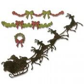 Sizzix Thinlits Die Set: Village Christmastime 662424