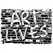 Stampers Anonymous Wood Mounted Stamp: Art Lives K2-932