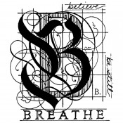 Stampers Anonymous Wood Mounted Stamp - Breathe K1-637